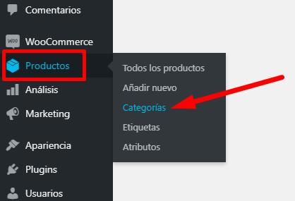 Crear una Categoría de Productos