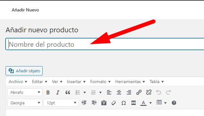 Crear Productos Simples en WooCommerce