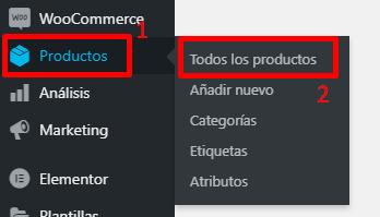 Eliminar Productos en WooCommerce